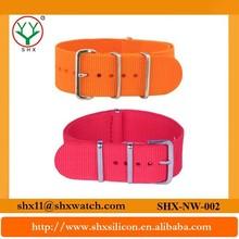 Delicate workmanship and popular design luxury nylon watch strap band