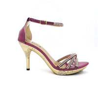 top quality lady fiat heel leather fashion shoe