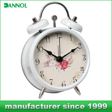 promotion metal desk clock/unique desk clock/living room decoration table alarm clock