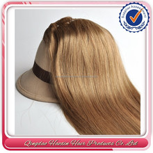 Accept paypal new products brown one piece 8 inch clip-in human hair extensions