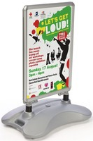 Penglong 30 x 41-1/2 x 19-1/4 Inches Silver Finished Aluminum Snap Frame Sandwich Board