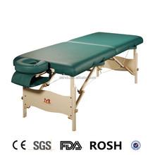 hot sale portable folding foldable light weight wooden professional spa salon PEU massage table