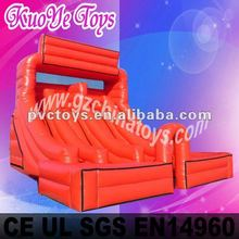 inflatable red slide