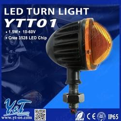 Cafe Racer Lens 12V LED Amber Motorcycle Brake Tail Light Turn Signals Lamp Integrated Bracket For Kawasaki