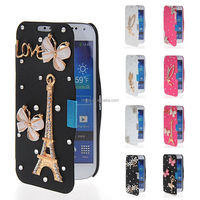 New Bling Leather Flip Wallet Back Case Cover For Samsung Galaxy S4 Mini I9190
