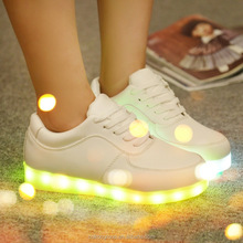 led shoes/2015 New men's fashion sneakers black running shoes male lighted casual shoes LED glow shoes International brands Free