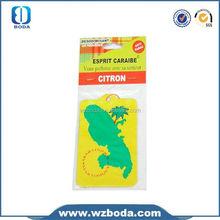 Custom bulk hanging car air freshener for car/car air freshener wholesale/paper air freshener