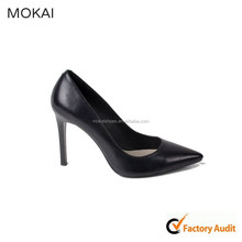 A120-A1-B10 black elegant high heel office shoes women dress shoe