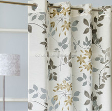 Hotel print hookless shower curtains