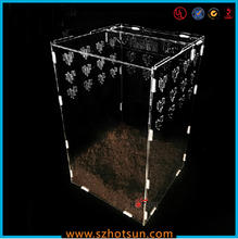 China manufacturer wholesale acrylic parrot bird cage/animal cage/plastic bird cage