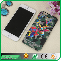 fashion mobile phone hard plastic cases touch feel deer back design case for iphone 6s