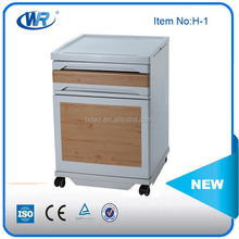 Luxury abs plastic medical bed side locker for hospital