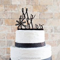 Five Styles Personalised Mr&Mrs Acrylic Cake Topper Funny Chrismas Wedding Cake Topper