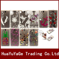 3D Printed Pattern TPU Transparent soft gel phone cases cover for LG G3