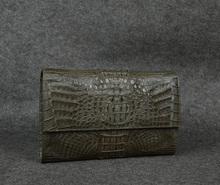 crocodile skin oversized envelope clutch bag .exotic clutch bag