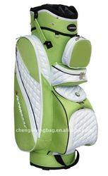 Green PU Custom Golf Bags For Ladies