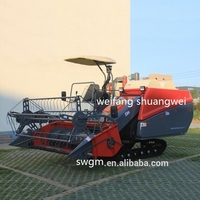 4LZ-2.5D Rice wheat Double thresher Combine harvester In Burma hot selling