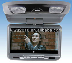 9-Inch Flip Down Monitor and DVD Player with Wireless FM Modulator/ IR Transmitter