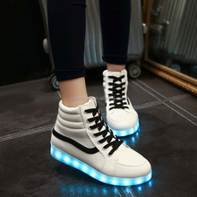 Fashion bright men led sneaker shoes made in china