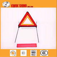 triangle warning sign reflective traffic warning for car truck bus automobile