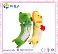 Big size frog and lion animal shape baby pillow