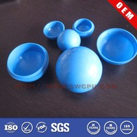 Colored clear hollow plastic sphere