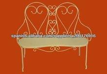 silla de hierro forjado
