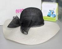 Wholesale wide brim wedding sinamay ladies white church hats