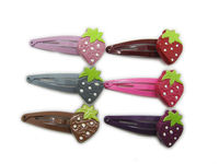 Handmade Baby/Toddler Girl Hair Accessory of snap hair clips