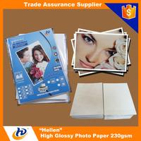 Trade assurance order premium glossy inkjet photo paper 260gsm