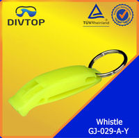 Plastic whistle for water sports survive whistle