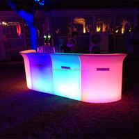 Rotational molding changing color PE Plastic rechargeable waterproof outdoor coffee bar counters for sale