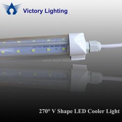 Easy Installation 4ft 22w integrated v shape refrigerator tube waterproof retrofit led cooler light