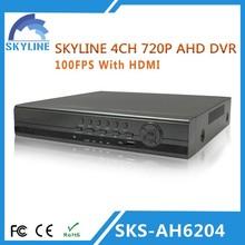 h 264 4CH HD 720P Support P2P AHD dvr