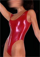 Fashion women 2015 sexy Latex catsuits red swim body suit costumes for women plus size Hot sale