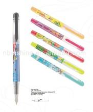 Classical style plastic fountain pen , full color printing fountain pen