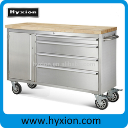 48 inch 4 drawers garage tool storage with wooden top