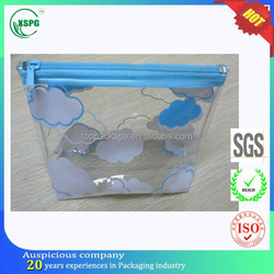 hot sales 0.3mm recyclable plastic clear cosmetic pvc bag