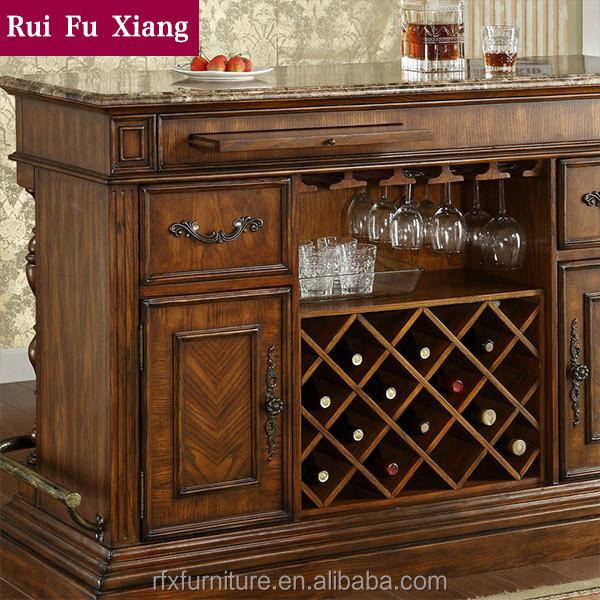 Federal de madera cl sica barra de bar para muebles para for Muebles barra de bar
