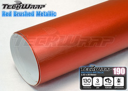 High quality Red Chrome Brushed Car Body Wrap Vinyl With Air Free1.52x30m