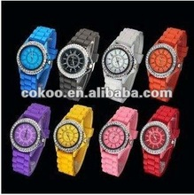 Geneva Ladies Silicone Rubber Band Watch DW-2