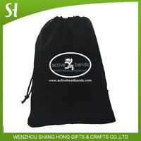 Custom print velvet drawstring pouch bag Velvet gift bag