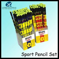 2012 hot sales 7inch HB hot transfer parinting cartoon pencil set with eraser top 64pcs in pencil holder