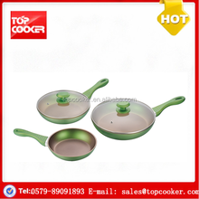 5pcs cookware factory aluminium forged color non-stick cookware