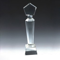 wholesale high quality crystal awards trophies round base of trophy customized