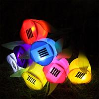 New creative gift 4pcs tulips lights with Sunshine Powered Colorful nights everlasting Free Shipping LED Decor Lighting Lamp