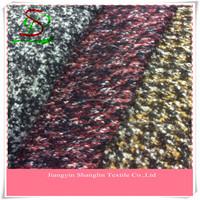 Fashion wool knit fabric for winter women's coat