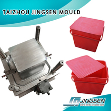 square water bucket mould with handle and top