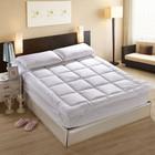 Nova chegada algodão 233TC confortável colchão de penas topper para hotel / cama
