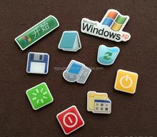 Company software sign design epoxy printed mini fridge magnets decoration